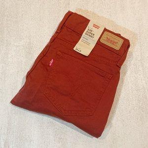 LEVI'S 535  Rust Super Skinny Jeans sz 26